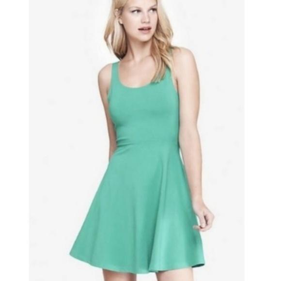a923d2cc3bcd0 Express Dresses | Teal Skater Dress | Poshmark
